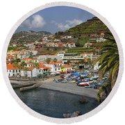 Camara De Lobos Madeira Round Beach Towel