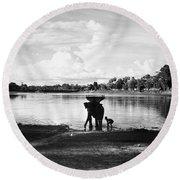 Cambodia: Angkor, 1960 Round Beach Towel