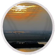 Cambodian Sunsets 2 Round Beach Towel