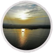 Cambodian Sunsets 3 Round Beach Towel