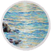 Cambria Rocks Round Beach Towel