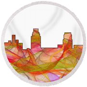 Camden Nj Skyline Round Beach Towel