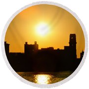 Camden Sunrise Round Beach Towel