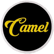 Camel-01 Round Beach Towel