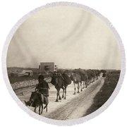 Camel Caravan, C1911 Round Beach Towel