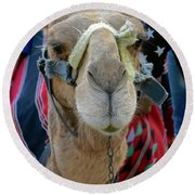 Camel Ride Round Beach Towel