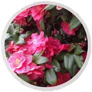 Camelia Round Beach Towel
