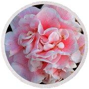 Camellia Flower Round Beach Towel