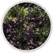 Camellia Tree Round Beach Towel