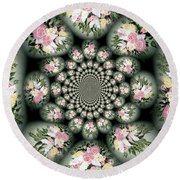 Cameo Bouquet Round Beach Towel