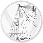 Camera Lucida For Microscopic Drawings Round Beach Towel
