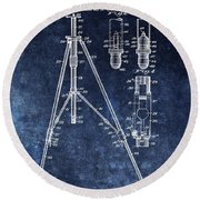 Camera Tripod Patent Round Beach Towel