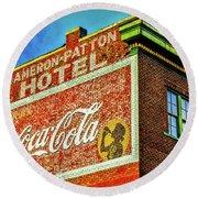 Cameron Patterson Hotel Round Beach Towel