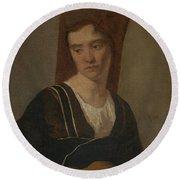 Camille Corot   A Peasant Woman Round Beach Towel