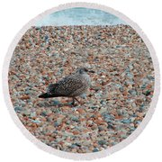 Camo Chick Round Beach Towel