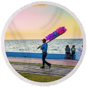 Campeche Colors Round Beach Towel