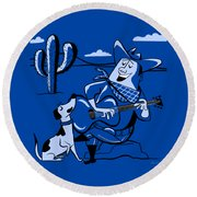 Campfire Cowboy Song Round Beach Towel