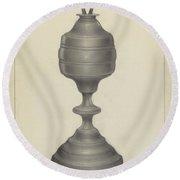 Camphene Lamp Round Beach Towel