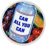 Can All You Can -- Ww2 Round Beach Towel by War Is Hell Store