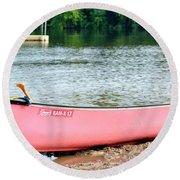Can You Canoe Round Beach Towel