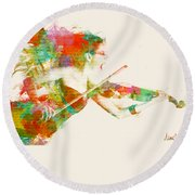 Can You Hear Me Now Round Beach Towel by Nikki Smith