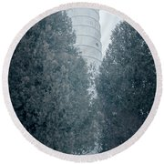 Cana Island Lighthouse Wisconsin Round Beach Towel