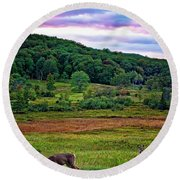 Canaan Valley Evening Round Beach Towel