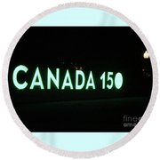 Canada 150 Round Beach Towel