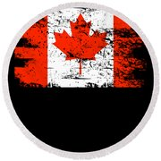 Canada Flag Gift Country Patriotic Travel Shirt Americas Light Round Beach Towel