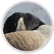 Canada Goose Head Round Beach Towel