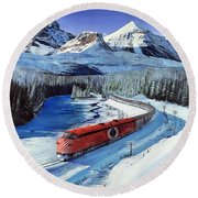 Canadian At Morant's Curve Round Beach Towel