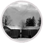 Canadian Farm Round Beach Towel