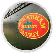 Canadian Heritage Train Round Beach Towel