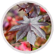 Canadian Leaf Round Beach Towel
