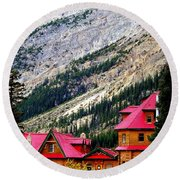Canadian Red Round Beach Towel by Karen Wiles