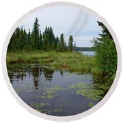Canadian Shield Round Beach Towel