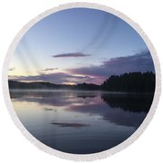 Canadian Sunrise Round Beach Towel