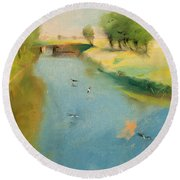 Canal Round Beach Towel