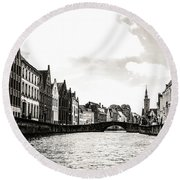 Canal Life Round Beach Towel