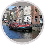 Canal Lunch Round Beach Towel
