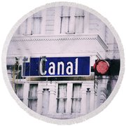 Canal Street In The Big Easy Round Beach Towel