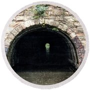 Canal Tunnel 2 Round Beach Towel