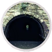 Canal Tunnel Round Beach Towel