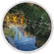 Canal View  Round Beach Towel