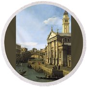 Canaletto Round Beach Towel