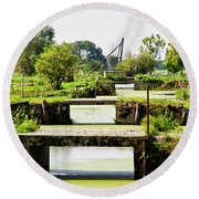 Canals And Bridges Round Beach Towel