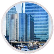 Canary Wharf 10 Round Beach Towel