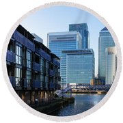 Canary Wharf 7 Round Beach Towel