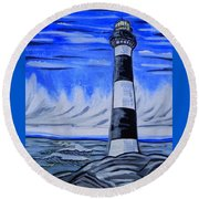 Canaveral Lighthouse Round Beach Towel