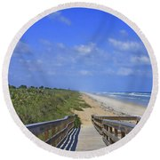 Canaveral Walkway Round Beach Towel